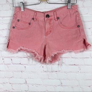 Free People Rose Distressed Shorts